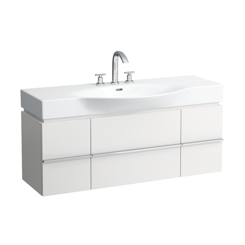 401302 vanity unit with 2 drawers and 2 doors  2 glass shelves and space saving siphon for washbasin 811704  812704 0