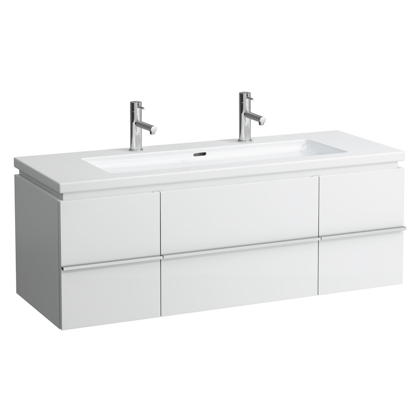 401311 vanity unit with 1 drawer and 2 doors  2 glass shelves and space saving siphon for washbasin 816435 0