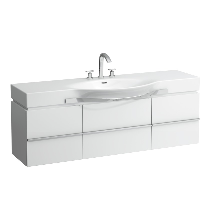 401351 vanity unit with 1 drawer and 2 doors  2 glass shelves and space saving siphon for washbasin 811706  812706  813706  814706 0