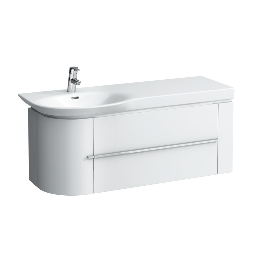 401651 vanity unit  with space saving siphon and soft close mechanism  for washbasin asymmetric right 816706  shelf cut  with one drawer 0