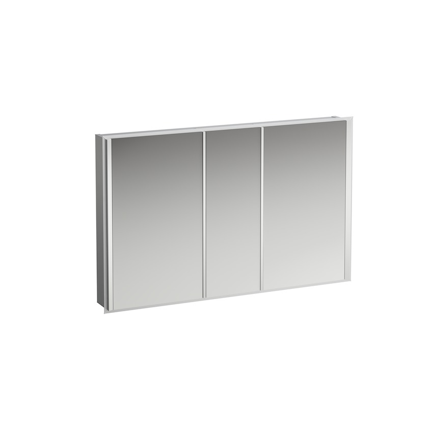 408824 aluminium mirror cabinet with vertical led light  without socket  without sensor switch 0