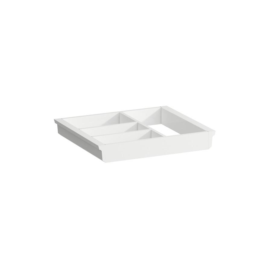 495405 drawer organizer  large  for vanity unit  matt white lacquered 0
