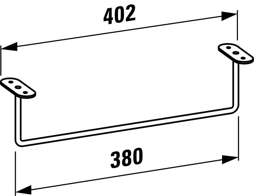 493206 towel rail  chromed 0