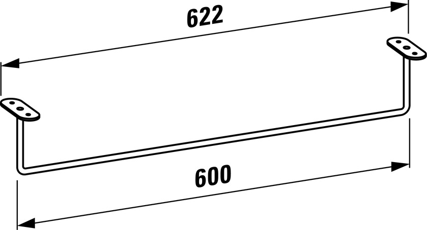 493208 towel rail  chromed 0