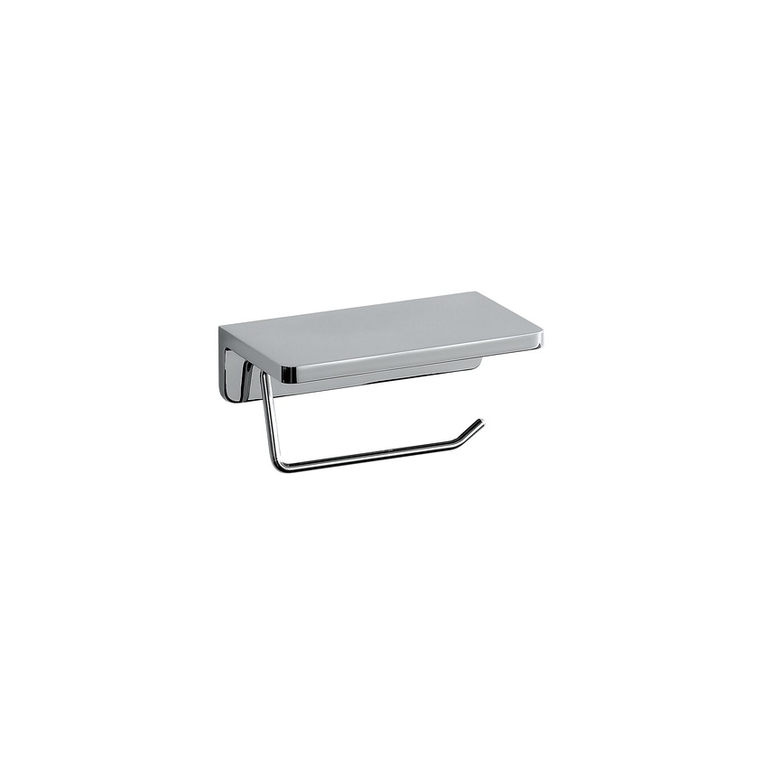 383681 toilet roll holder with shelf  chrome surface 0