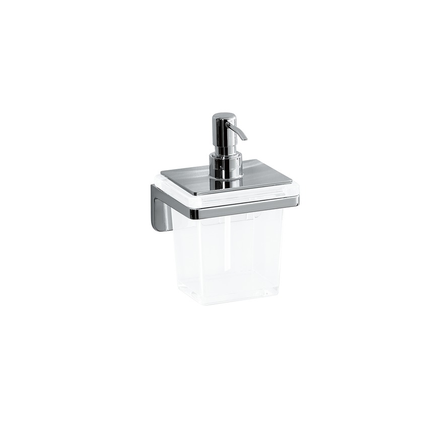 384683 soap dispenser  with crystal glass  wall mounted  chrome surface 0