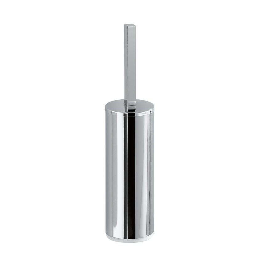 383682 toilet brush holder with brush  freestanding  chrome surface 0