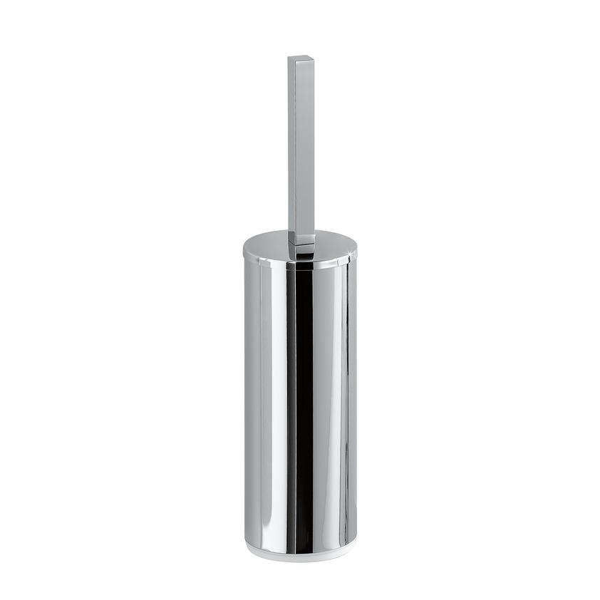 383682 toilet brush holder with brush  freestanding  chrome surface 0