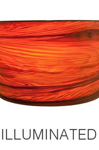 Red Sweet Gum Horizontal Grain Lamp Shade on Designer Page