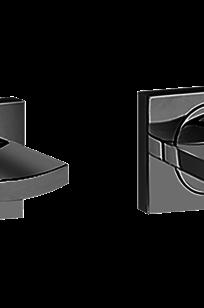 Sade/Targa/Luna Floor-Mounted Tub Filler Handle Set - Wall-Mounted - C14U-BS-SN on Designer Page