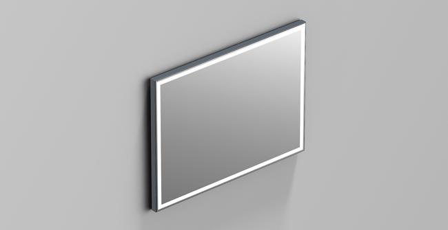 Mirror aluminium light 31 x24  0