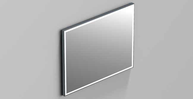 Mirror aluminium light 39 x31  0