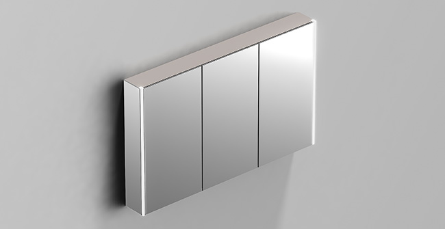 Mirror cabinet 3 doors 100 led 0