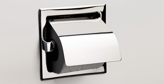 Covered roll holder recessed 0