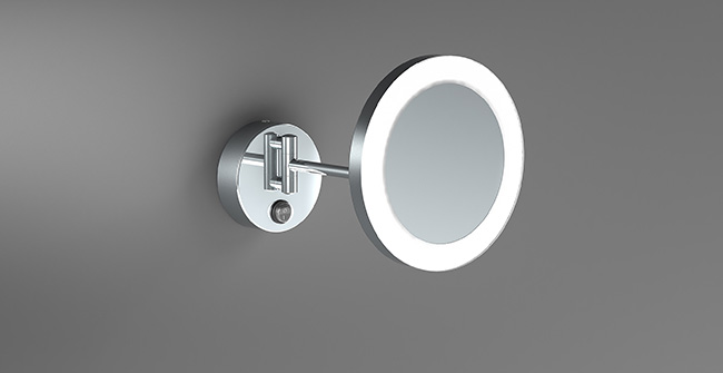 Magnifying mirror 1 arm  x3  led 0
