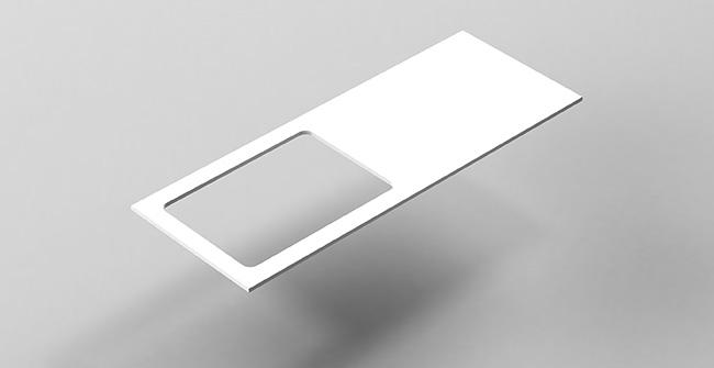 Countertop 120 offset edge left right 0