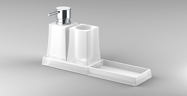 Tray  tumbler soap dispenser  0