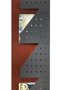 4 Pocket High Magazine Rack, Model 4064 on Designer Page