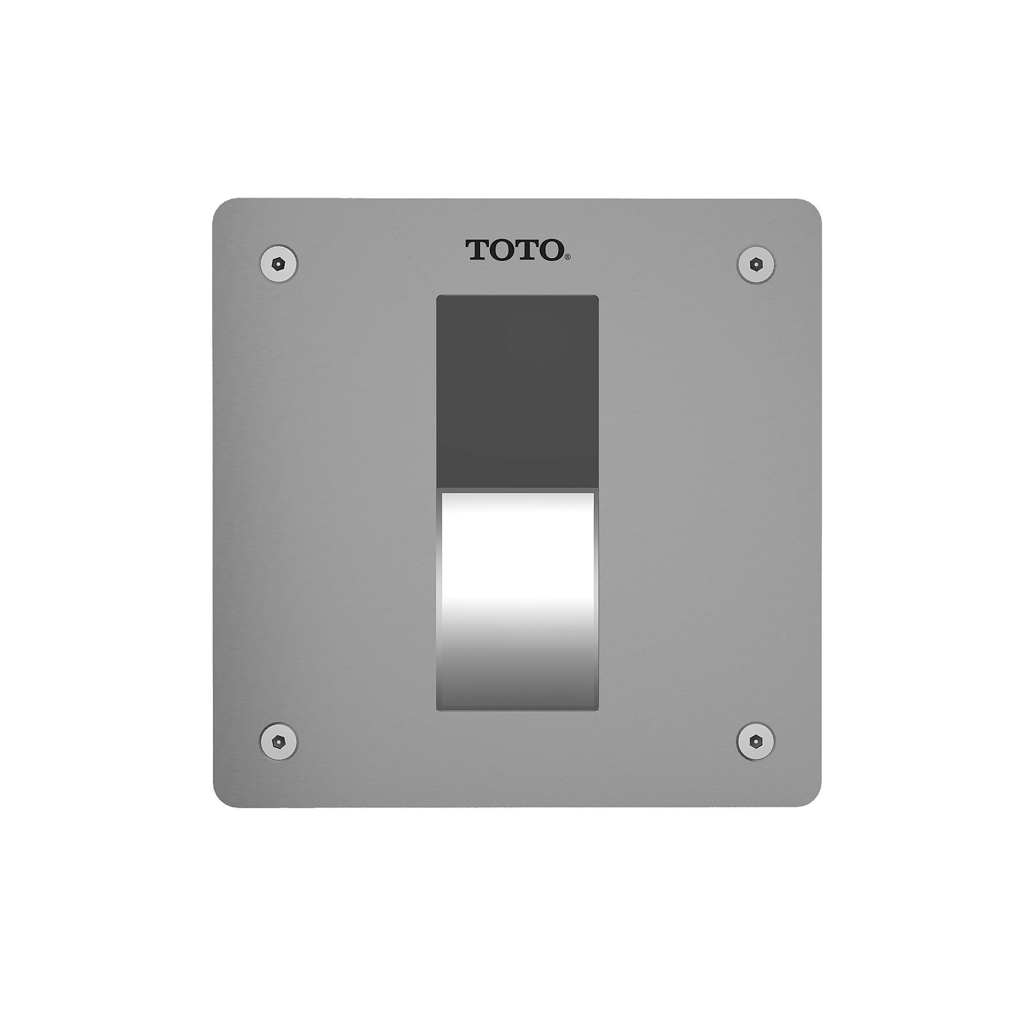Tet3ga33 ss ecopower  concealed toilet flush valve 4 x4    1 6 gpf  v b  set   back spud floor  0
