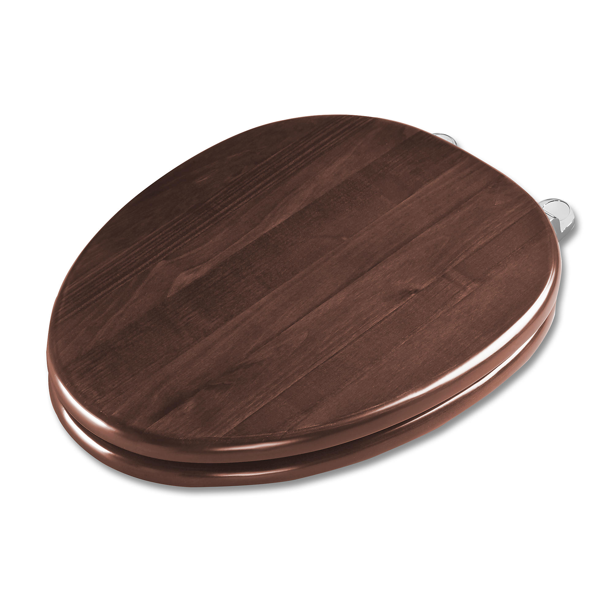 Ss304 cp maple softclose  toilet seat   elongated 0
