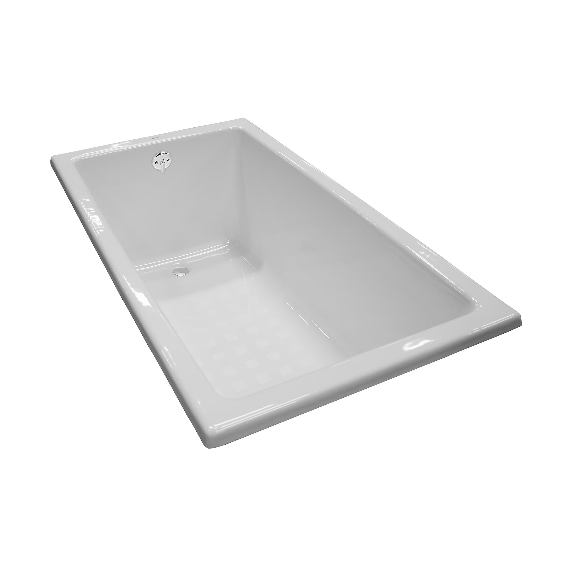 Fby1550p 01 enameled cast iron bathtub 59 1 16  x 31 1 2  x 23 1 4  0