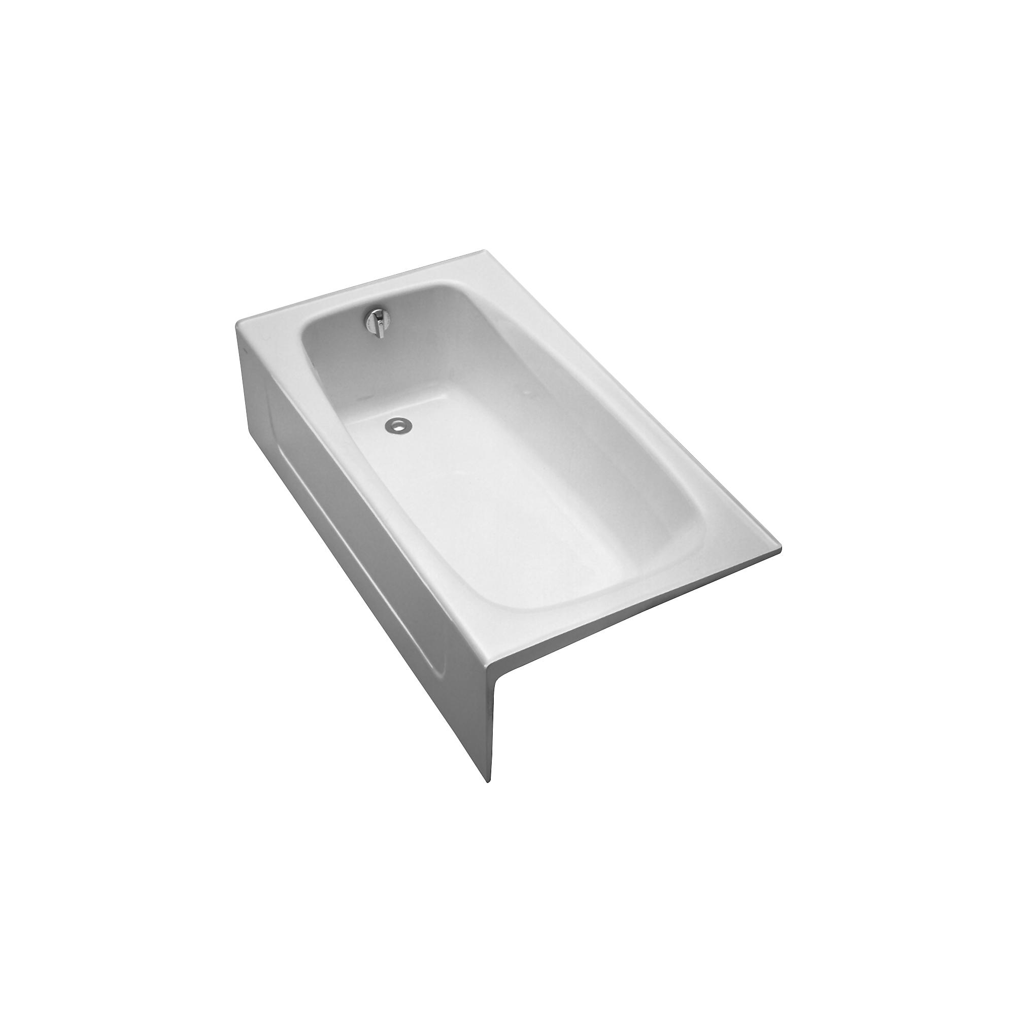 Fby1525rp 01 enameled cast iron bathtub 59 3 4  x 32  x 16 3 4  0