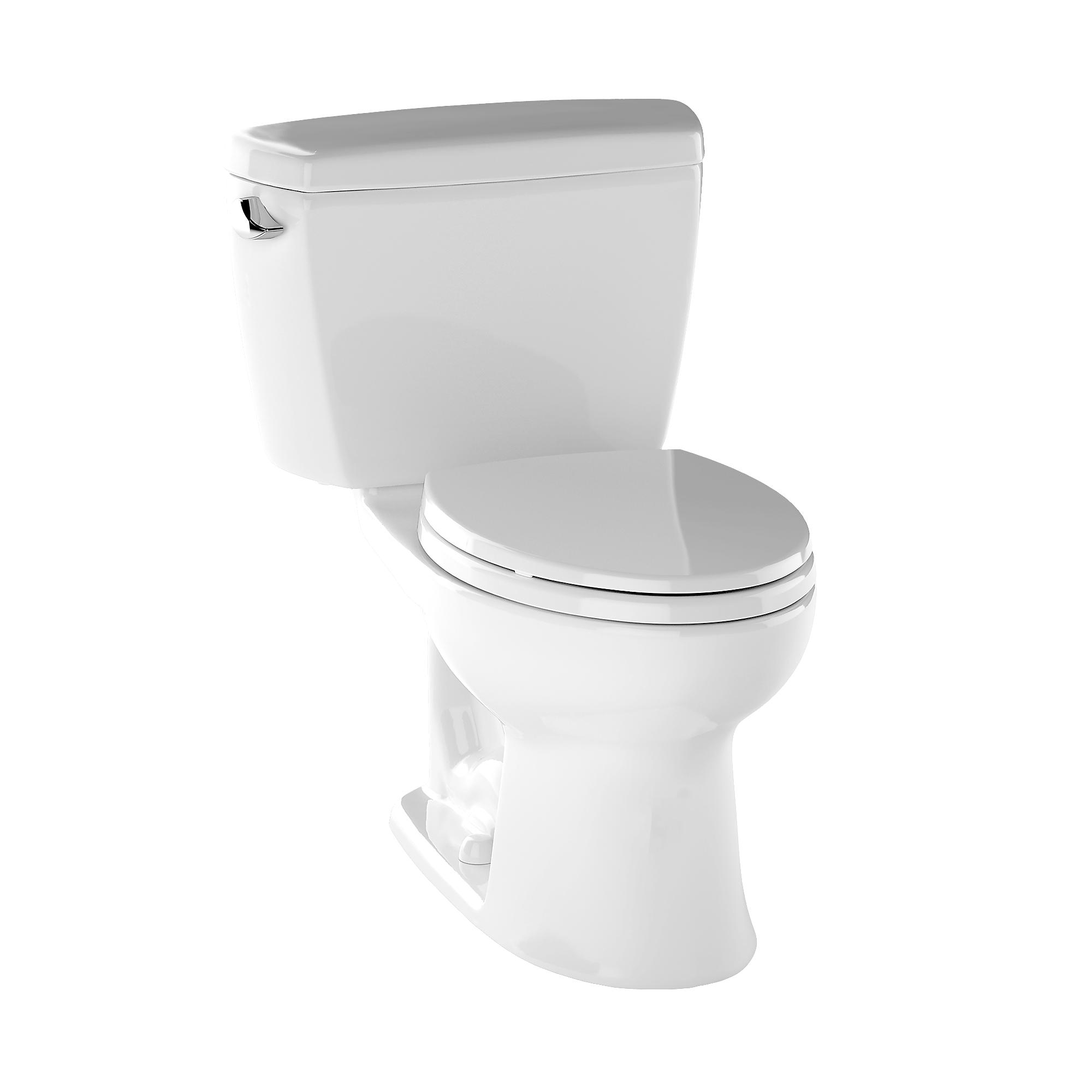 Cst744el 01 eco drake  two piece toilet  1 28 gpf  ada compliant  elongated bowl 0