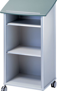 "Model 7935 20""w WHEELIES® Lectern - Open Front on Designer Page"