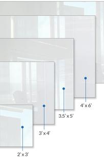 Glass Marker Boards on Designer Page