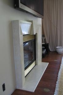 Custom Art Deco Fireplace Wrap on Designer Page