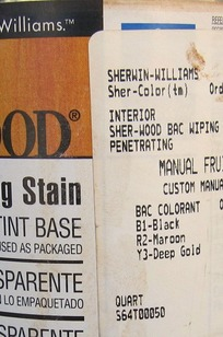 SHER-WOOD® BAC WIPING STAIN on Designer Page