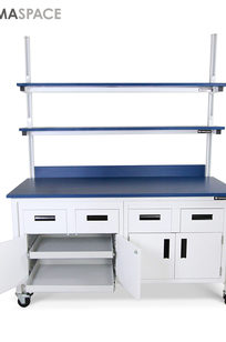 Laboratory Benchmarx with Sliding Shelf Cabinetry System on Designer Page