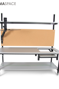 Packing Workstation with Articulating Monitor Arm on Designer Page