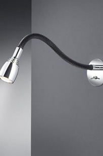 Wall Luminaire - Chrome / Black Meshwork - 12.2in x 2.4in dia. - B64.345.69 on Designer Page