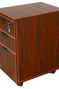 Boss Mobile Pedestal Box/Box/File, Honey Comb Packing, Mahogany - N148H-M on Designer Page