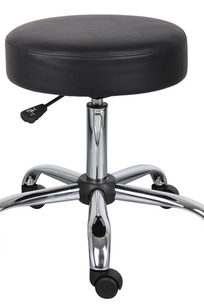 Boss Be Well Medical Spa Professional Adjustable Drafting Stool Black - B240-BK on Designer Page