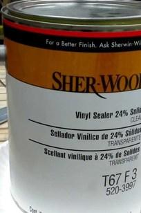SHER-WOOD® Vinyl Sealer Clear on Designer Page