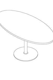 Oval/Elliptical Pedestal Table on Designer Page