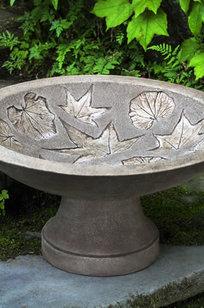 Falling Leaves Birdbath (1 pc) on Designer Page
