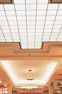 USG Ceilings Transparencies Luminous Ceiling System Panels on Designer Page