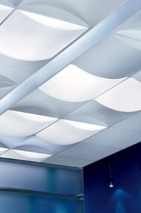 USG Ceilings Billo 3-D Ceiling Panels on Designer Page