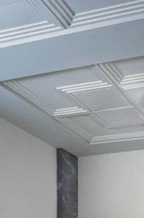 USG Ceilings Cadre Executive Sculpted Ceiling Panels on Designer Page