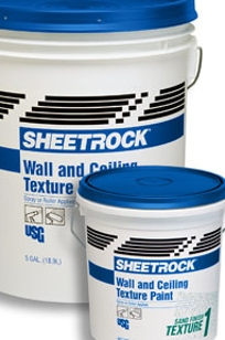SHEETROCK Brand Wall and Ceiling Texture Paints on Designer Page