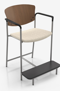 "SNOWBALL 3 Easy-Access Hip Chair, 22"" Seat Width 1924E on Designer Page"