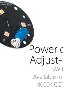 'e' Technology Modular System (e100-e103) with Adjust-e-lume® (5W) on Designer Page