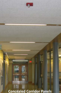 TECTUM Full-Span & Concealed Corridor Ceiling Panels on Designer Page