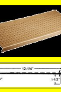 95 Lo-Pro® Studded Rubber Stair Treads on Designer Page