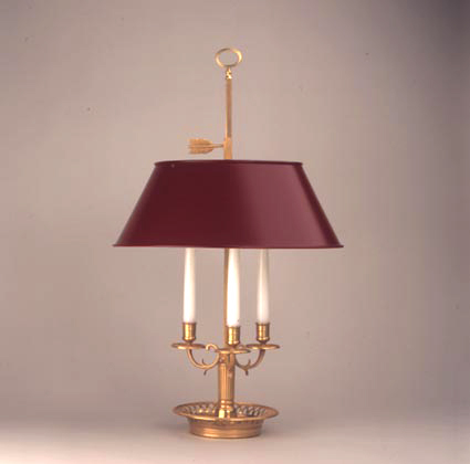 Bouillotte lamp red shade on designer pages bouillotte lamp red shade aloadofball Images