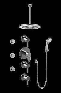 Contemporary Square Thermostatic Set w/Body Sprays & Handshower (Rough & Trim) - GB1.231A-LM46S on Designer Page