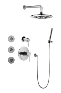 Full Thermostatic Shower System with Transfer Valve (Rough & Trim) - GB5.122A-LM37S on Designer Page